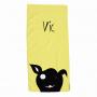 Toalla Personalizada Animal perro amarillo