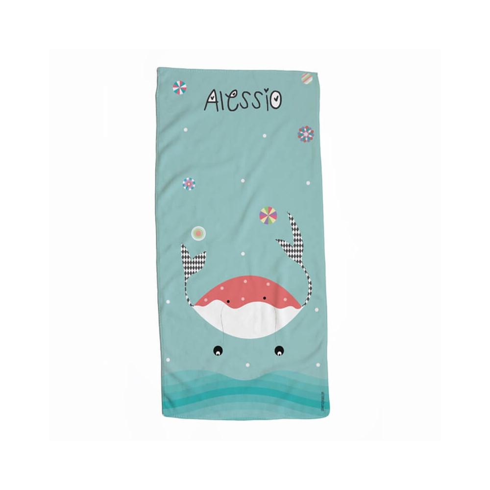 toalla personalizada infantil cangrejo para niños