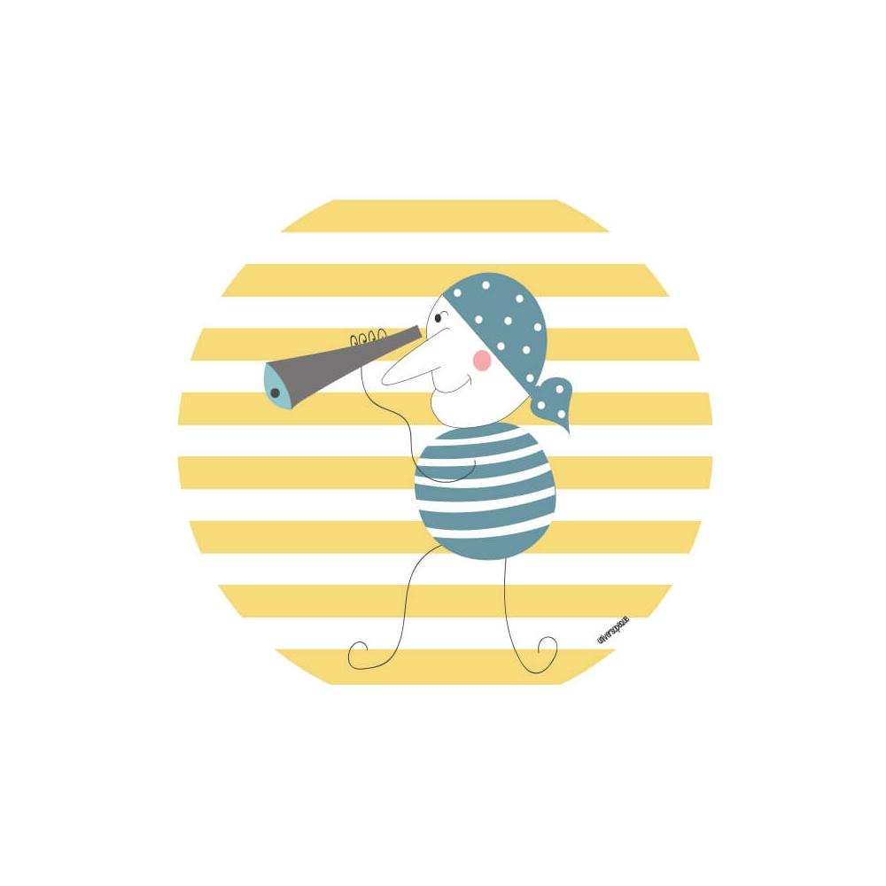 vinilo Infantil Pirata Amarillo vinilo decorativo
