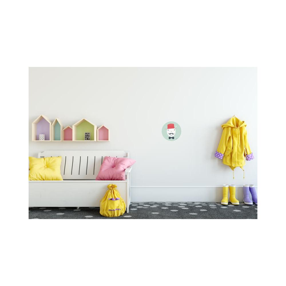 Vinilo Infantil Niño Gentleman color aguamarina para decorar