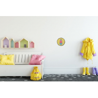 Vinilo Infantil Niño Él amarillo para la habitación infantil