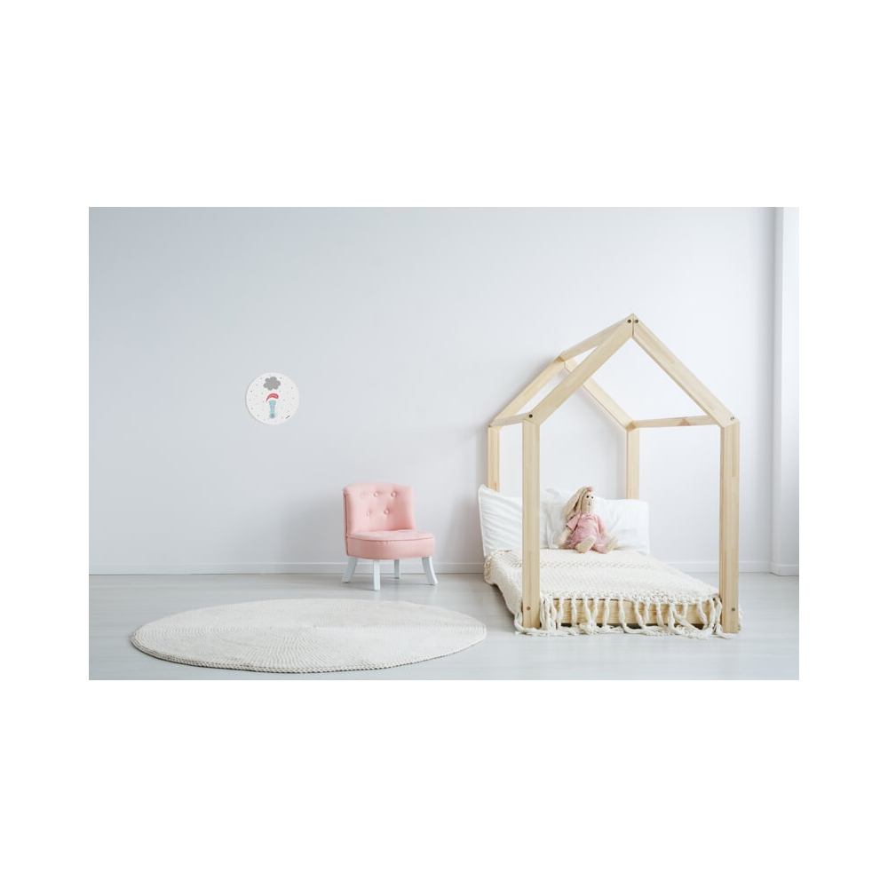 Vinilo Infantil Animal Ratin blanco para la habitación de los niños