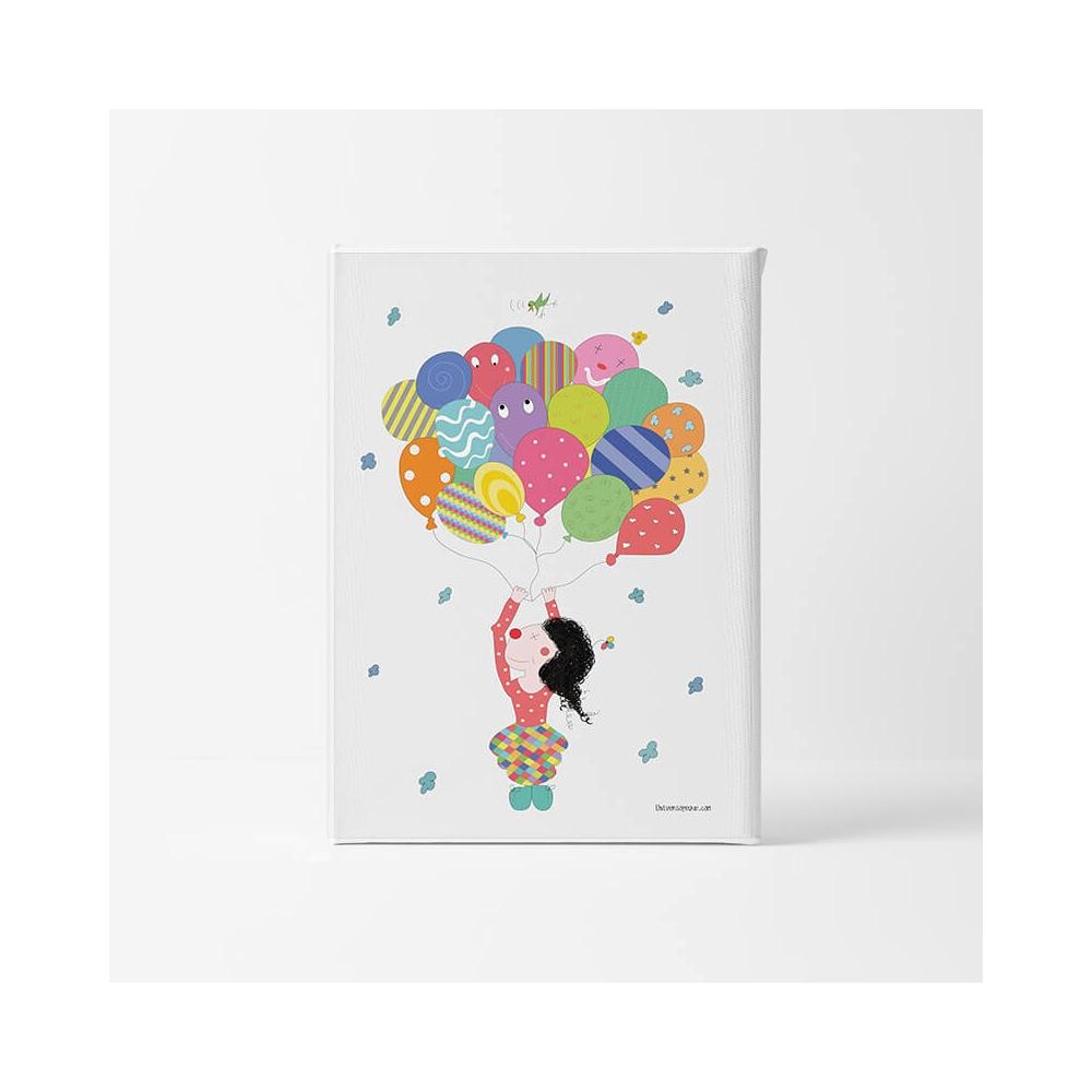 Lámina Infantil Payaso con Globos para decorar la habitación infantil