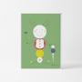 Lámina Infantil Bichitos Verde para decorar