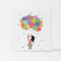 Lámina Infantil Payaso con Globos decorativa de colores