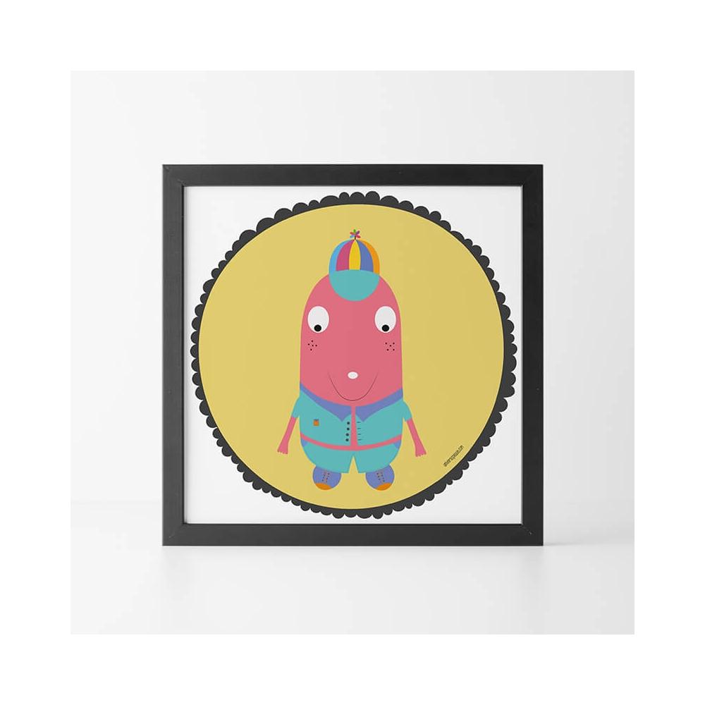 Lamina Infantil Niño Rojo para la habitación del Niño