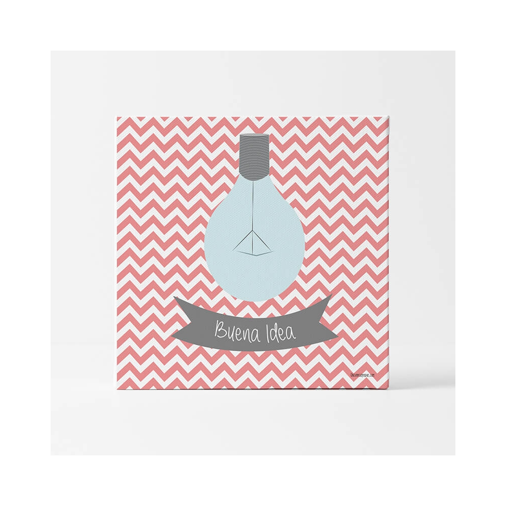 Lámina Mensaje Buena Idea Rojo para decorar