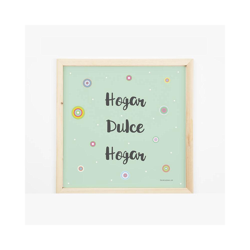 Lámina Mensaje Hogar dulce Hogar para decorar la casa