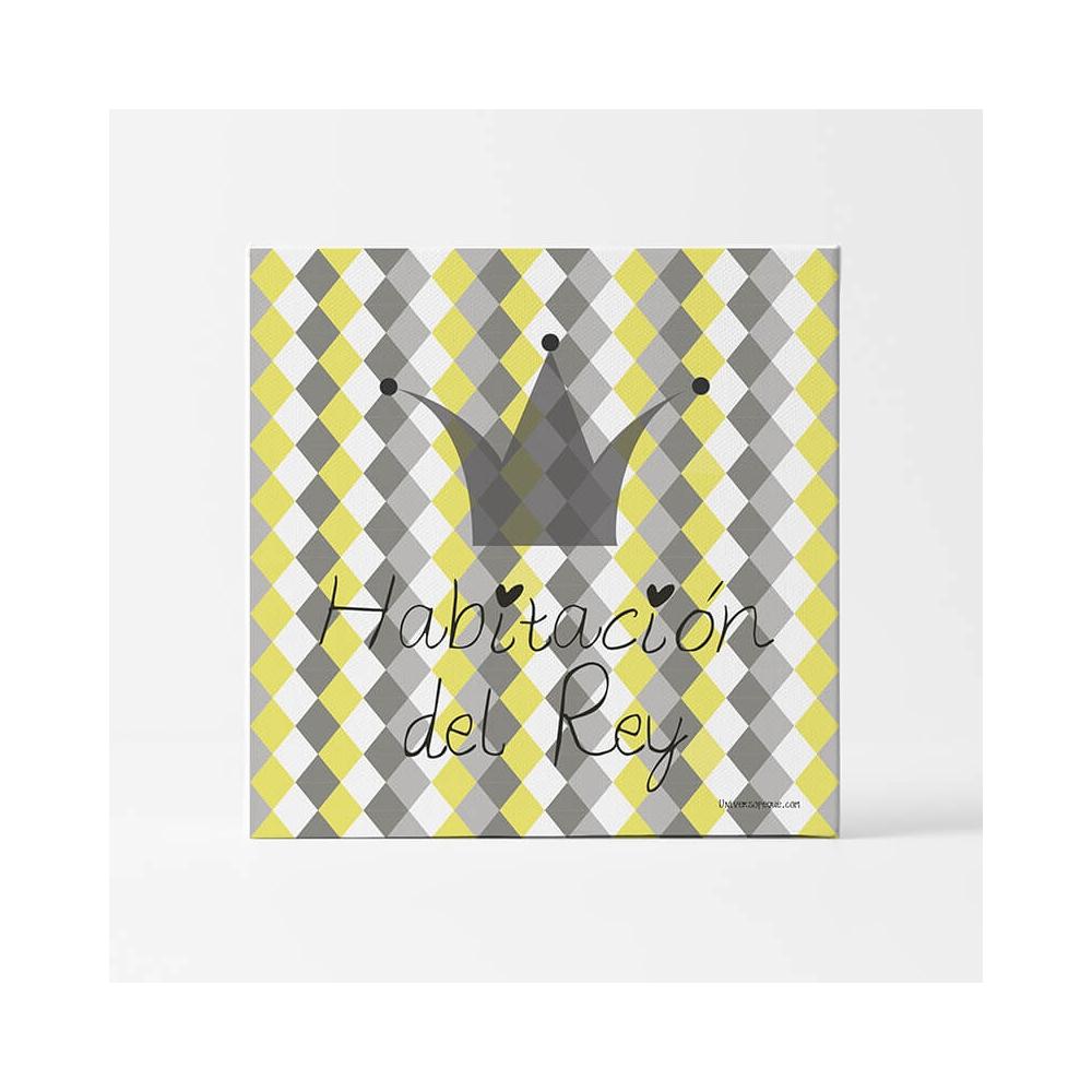 Lámina INfantil Habitación del Rey para decorar las paredes de la habitación del Niño
