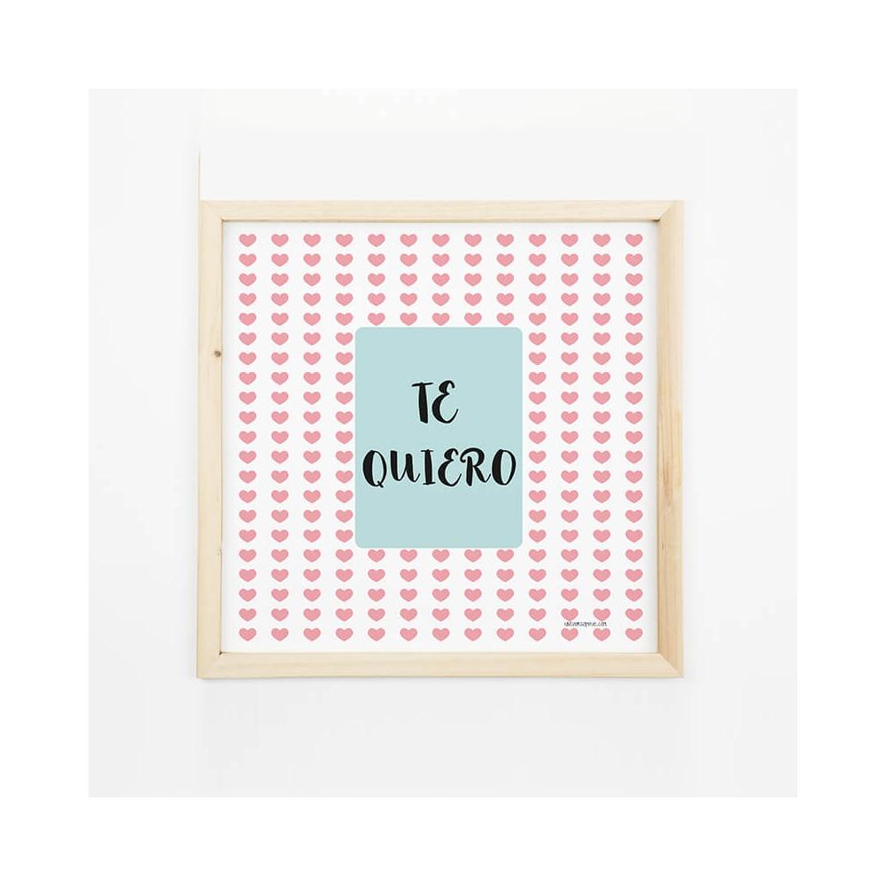 Lámina Mensaje Te quiero para decorar las paredes de la casa