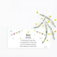 Invitación Descargable Primera Comunión Banderines para el Niño o Niña
