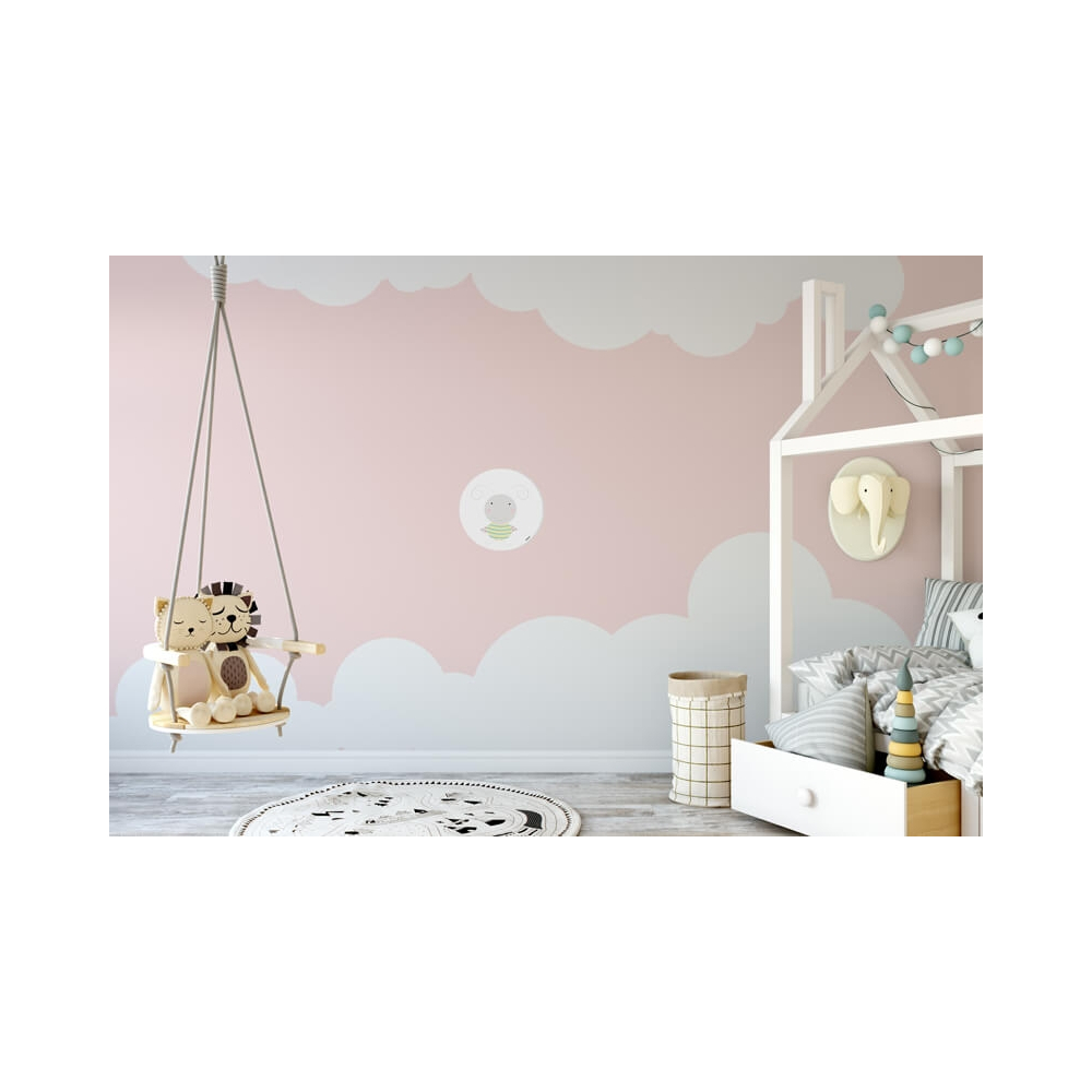 Vinilo Infantil Animal Mariquitin blanco vinilo de pared