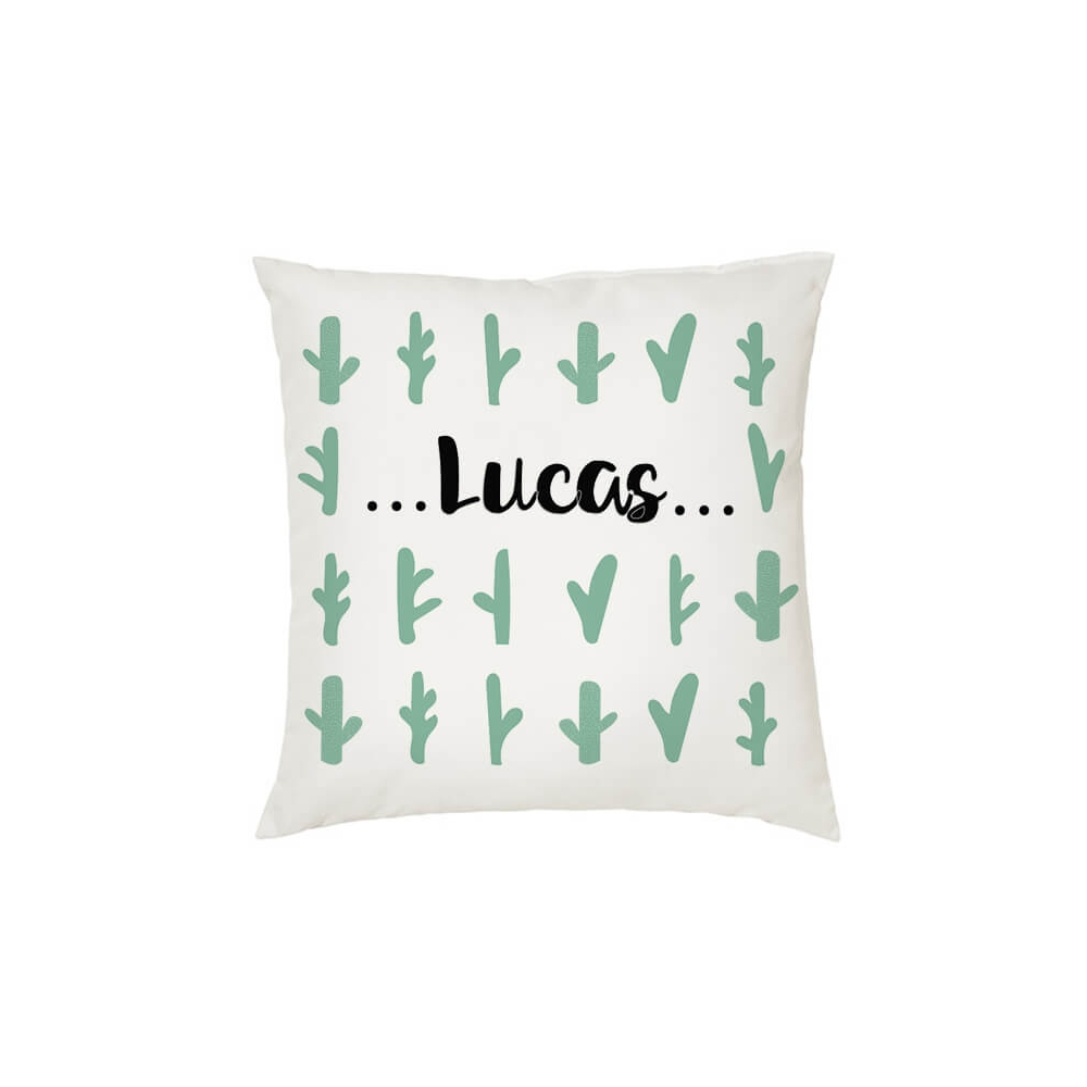 Cojín Personalizado Infantil Cactus para decorar la habitación del Bebé o Niño