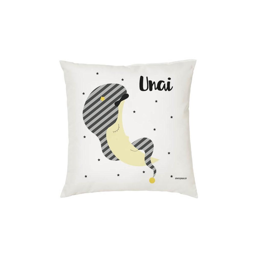 Cojín Personalizado Infantil Luna para Niños, Niñas y Bebés