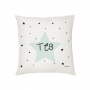 El Cojín Personalizado Estrella Mint es ideal para hacer un Regalo a Bebés, Niños y Niñas