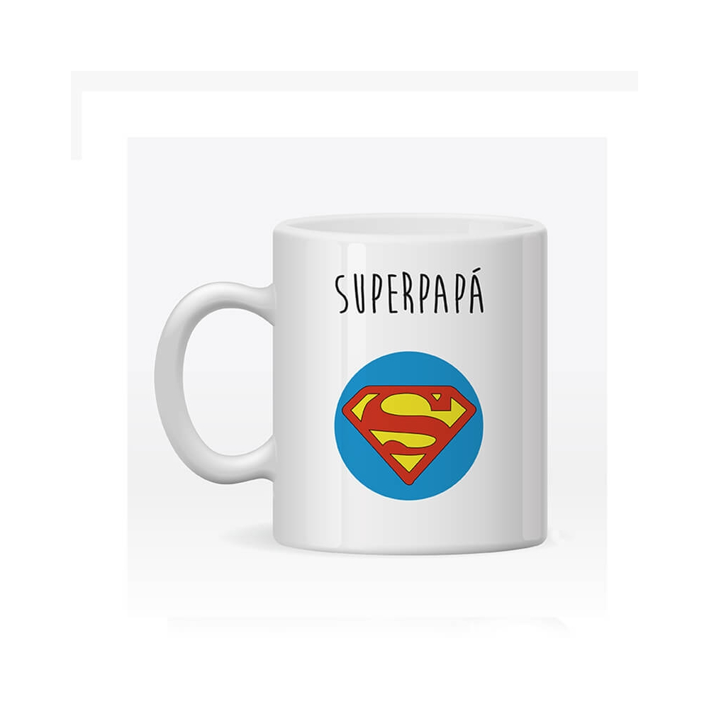 Taza Personalizada Super Papá. Regalos para el Día del Padre.