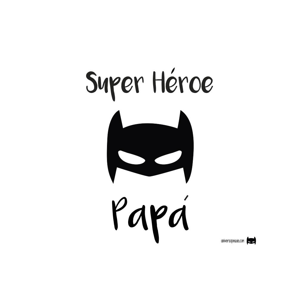 Botella Personalizada Papá Batman, un hermoso mensaje para que Papá te lleve a todas partes con él.