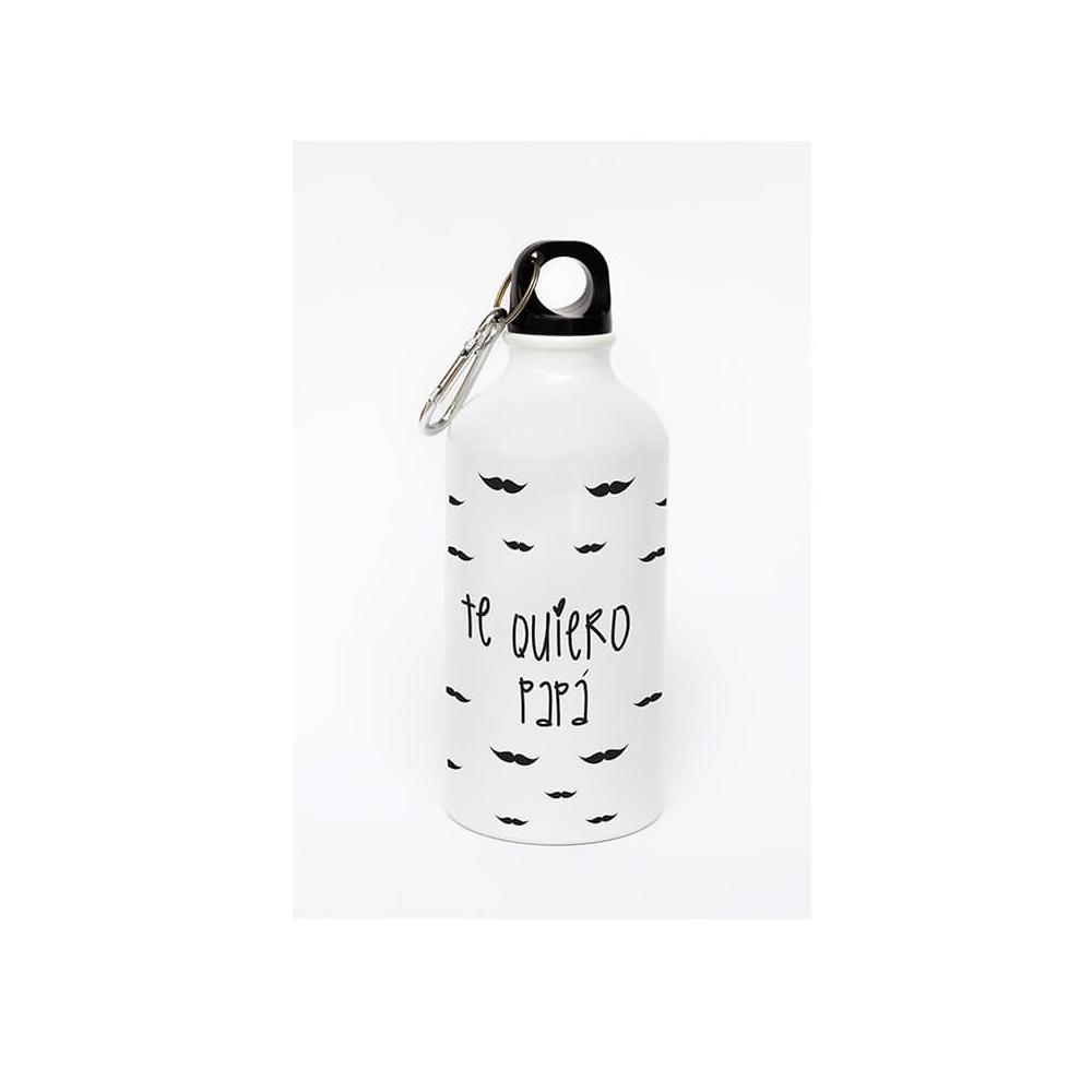 Botella Personalizada Papá Bigotes. Regalos para el Día del Padre con mensajes únicos.