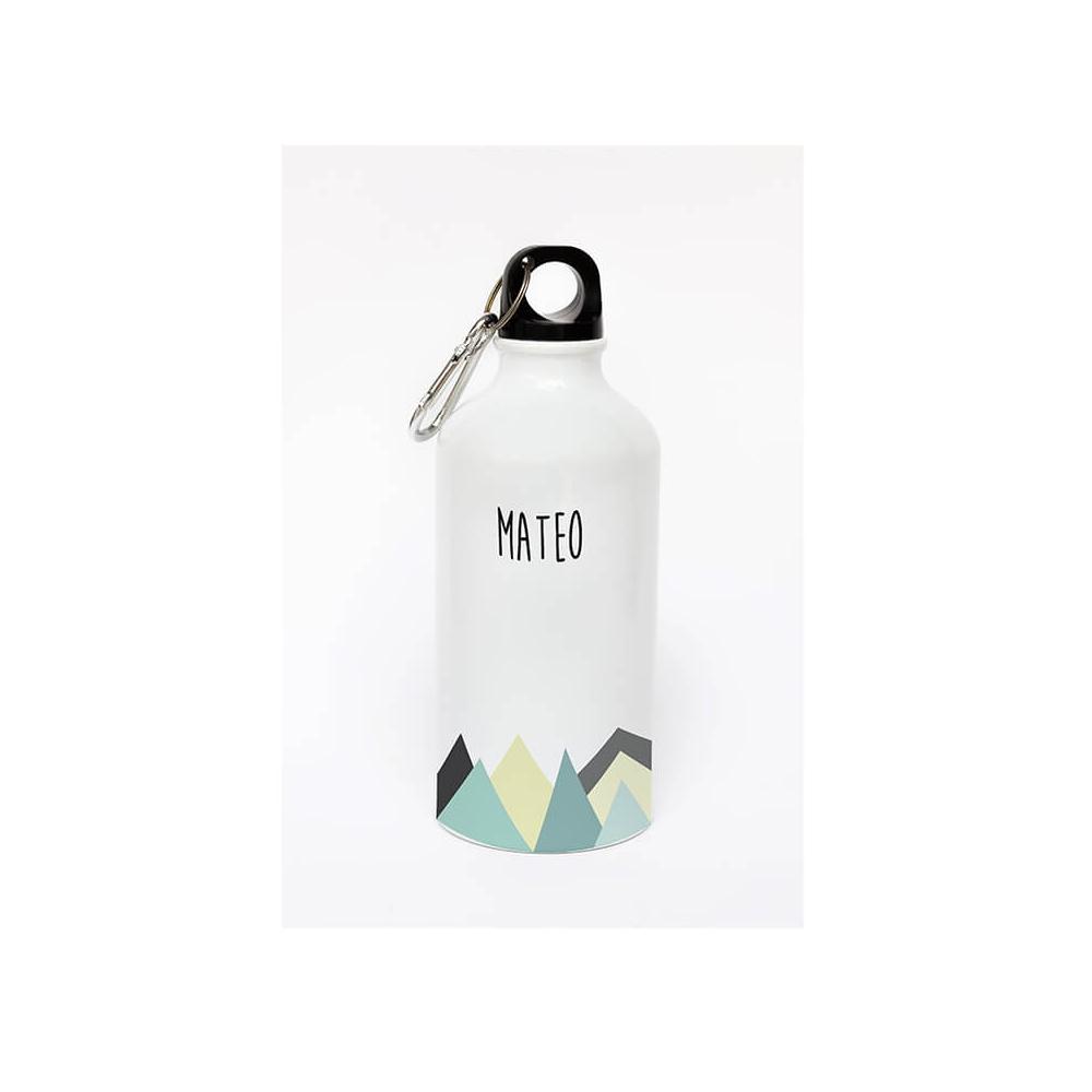 Botella de aluminio personalizada montañas para hacer un detalle a Papá