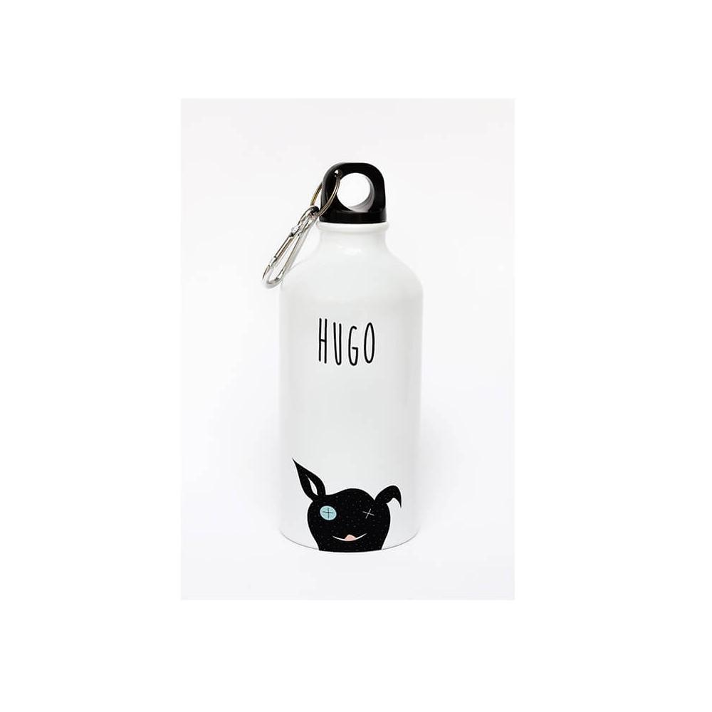 Botella de aluminio personalizada con el dibujo de un simpático perro