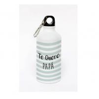 Botella de aluminio personalizada con un mensaje para Papá