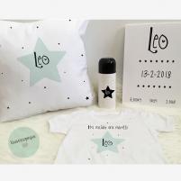 Pack Bienvenido Bebé Estrella Mint, Regalos para Recién Nacidos