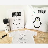 Pack Bienvenido Bebé Pingüino, Regalos para Recién Nacidos.