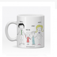 taza personalizada familiar