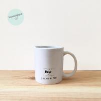 Taza Personalizada Infantil para regalar en la Primera Comunión. Reverso de la taza.