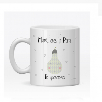 La Taza Personalizada Mamá Pera es un Regalo coqueto para mujeres hermosas