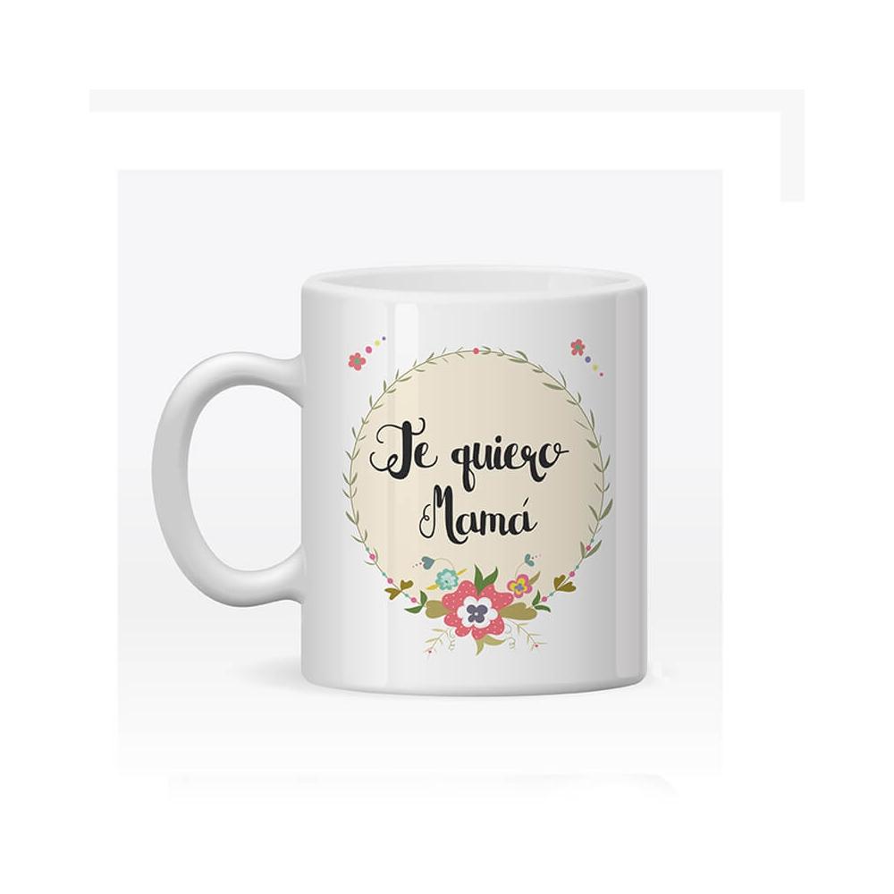 Taza Personalizada Flores para Mamá
