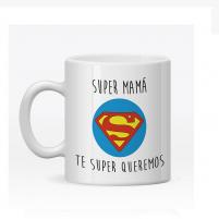 Taza personalizada super mama