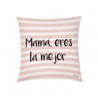 Cojín rayas rosa para mamá