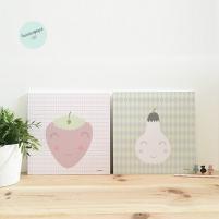 pack láminas infantiles frutas