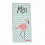 toalla personalizada flamenco rosa