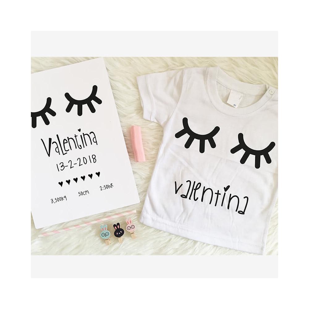 pack bienvenido bebe básico compuesto de natalicio mas camiseta