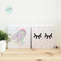 Pack láminas Inafantiles Unicornio y pestañas
