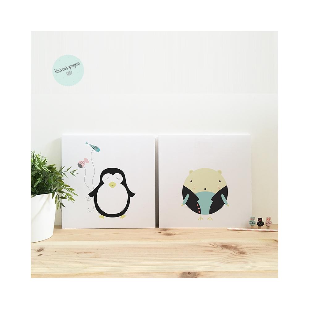 Pack Láminas Infantiles Pinguino