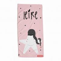 Toalla Personalizada Infantil Estrella Rosa. Toallas para niñas y bebés