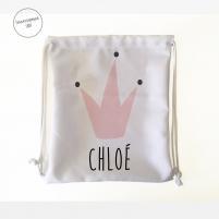 mochila guardería personalizada Reina blanco