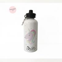 Botella unicornio personalizada