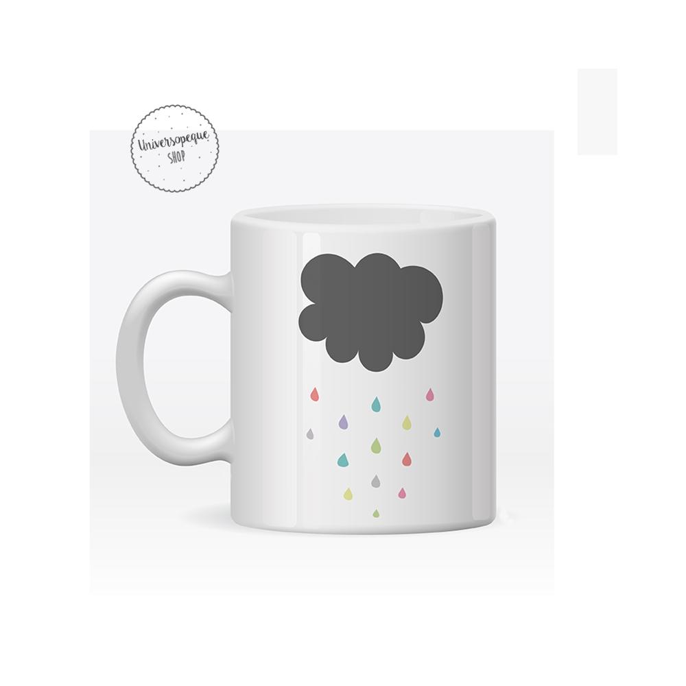 taza de plástico personalizada nube