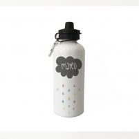 botella de aluminio personalizada nube
