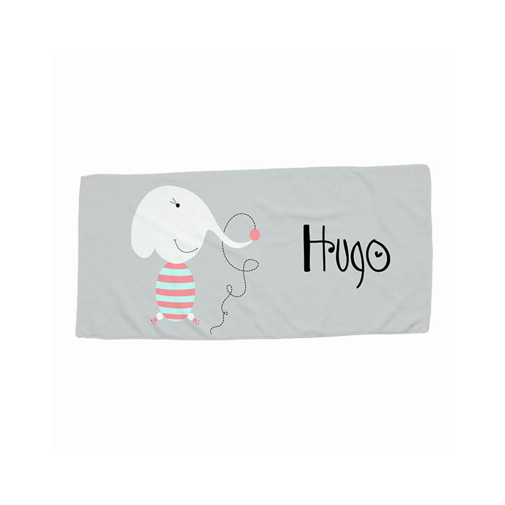 toalla infantil personalizada elefante
