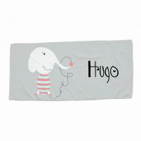toalla infantil personalizada dibujo elefante