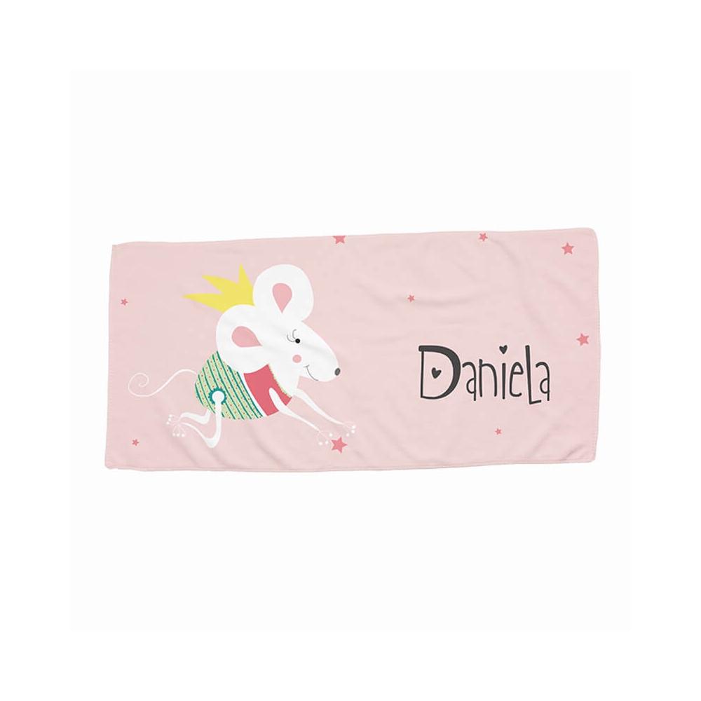 Toalla guardería personalizada Ratita para niñas