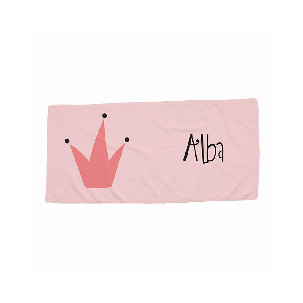 toalla pequeña personalizada con el dibujo de la corona de una reina