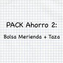 PACK AHORRO COLE BOLSA MERIENDA + TAZA