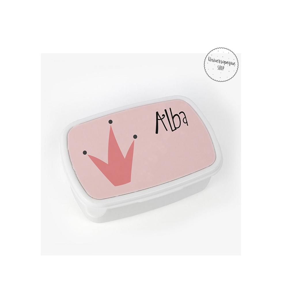caja para la merienda personalizada reina