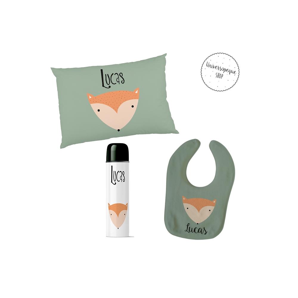 pack de regalos para bebes personalizado diseño zorro